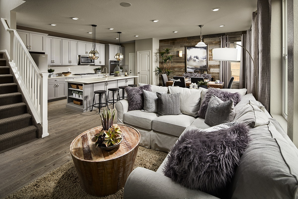 New Homes in Castle Rock, CO - Meadows Villas Plan 1928 Great Room