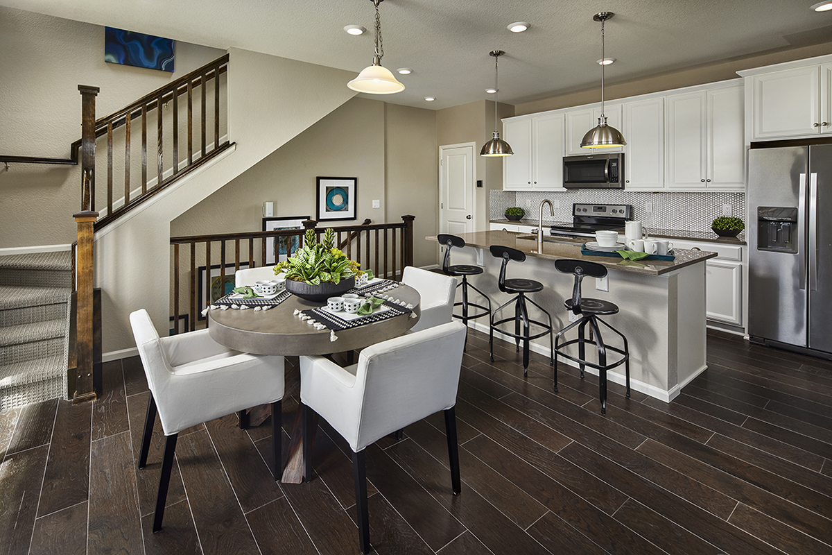 New Homes in Castle Rock, CO - Meadows Villas Plan 1682 Modeled Kitchen