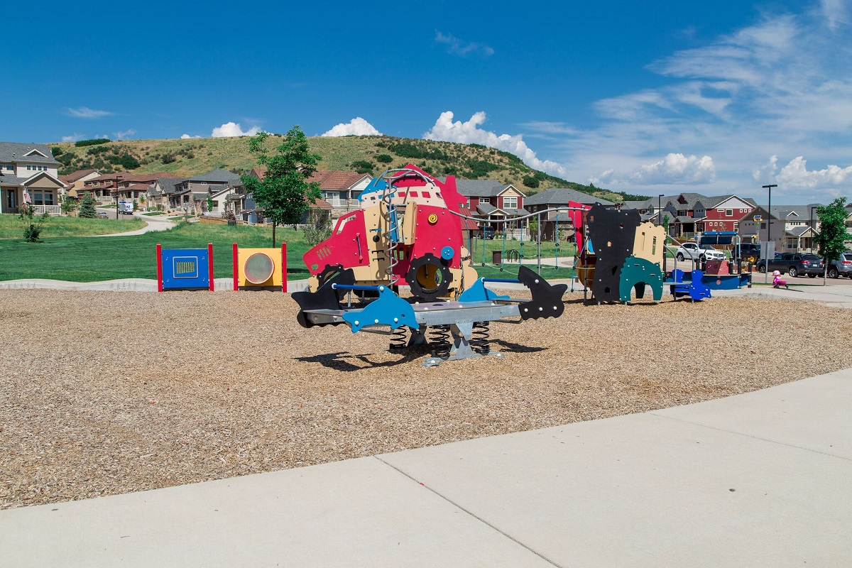 Amenity park at a KB Home community in Castle Rock, CO