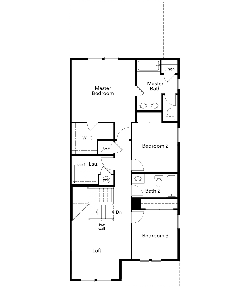 New Homes in Parker, CO - Plan 1885, Second Floor