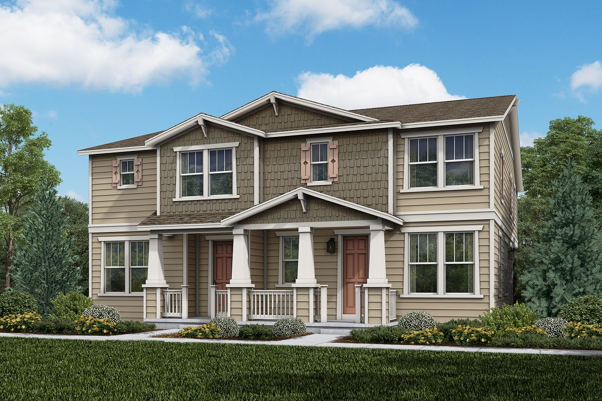 New Homes in Parker, CO - Trails at Crowfoot Villas Plan 1963 Elevation A
