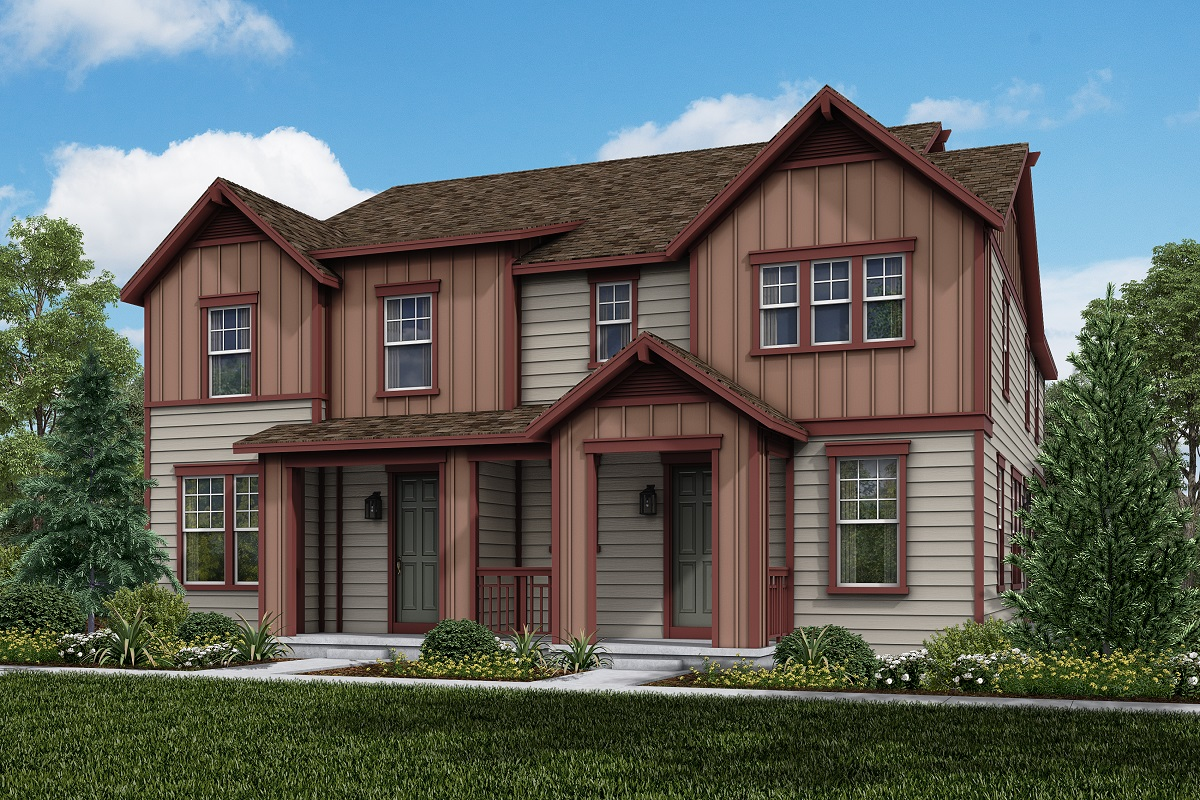 New Homes in Parker, CO - Trails at Crowfoot Villas Plan 1963 Elevation B
