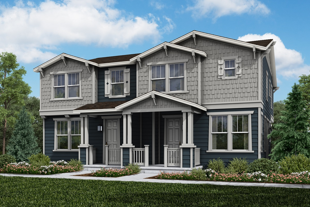 New Homes in Parker, CO - Plan 1671 & Plan 1468 Elevation 1A