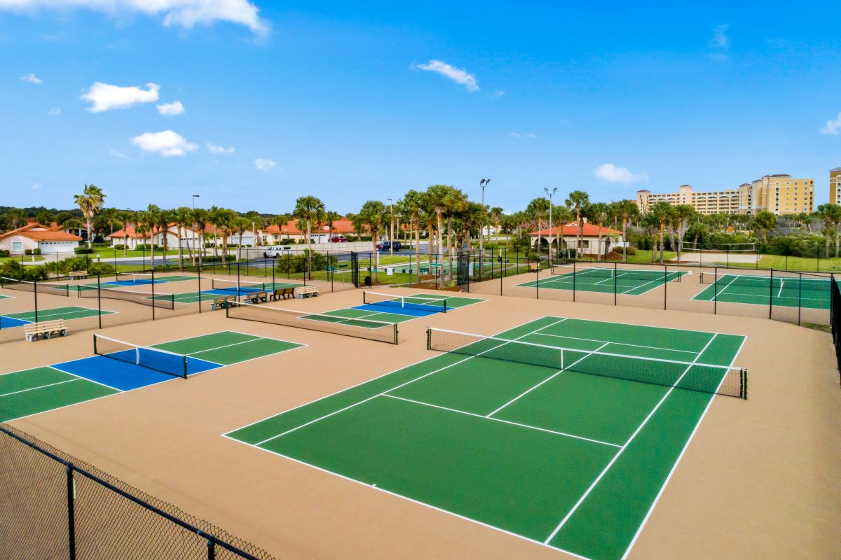 New Homes in Palm Coast, FL - Las Casitas Tennis Courts