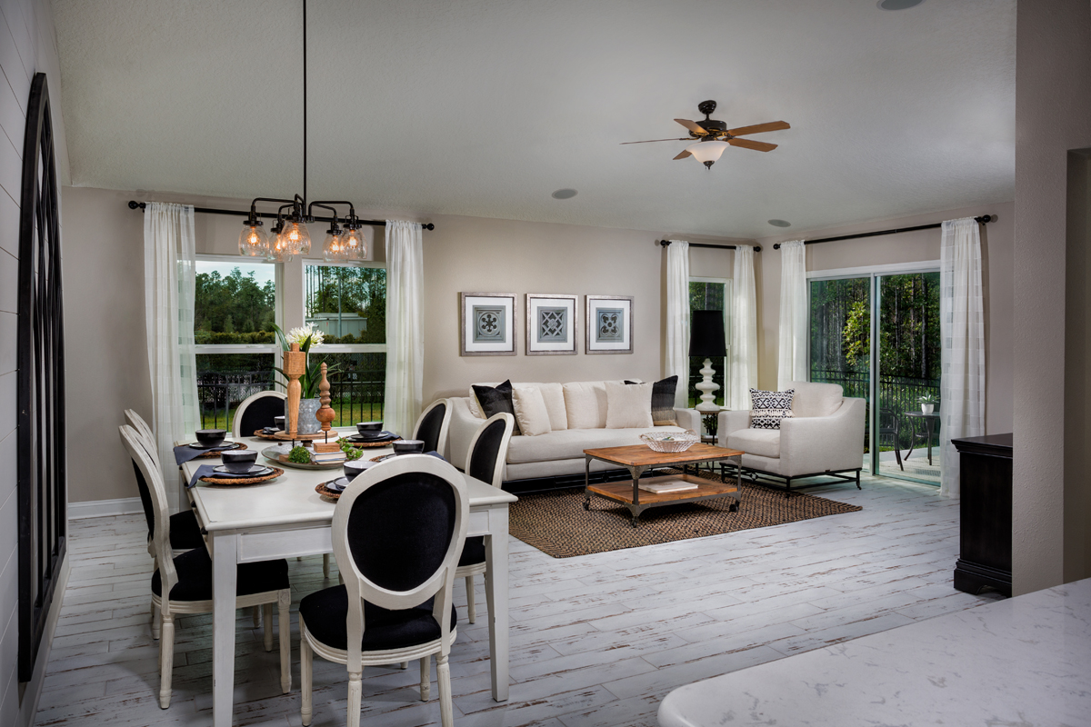 New Homes in Jacksonville, FL - Bartram Creek - Classic Series The Darby Great Room