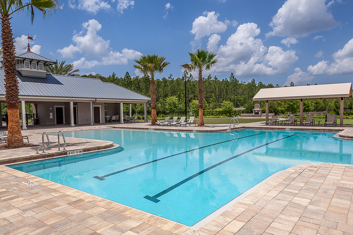 Amenity pool at a KB Home community in Jacksonville, FL