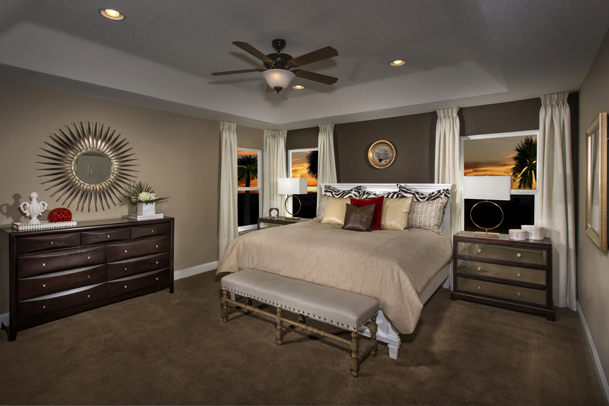 New Homes in Jacksonville, FL - Bartram Creek - Executive Series The Carrington Master Bedroom