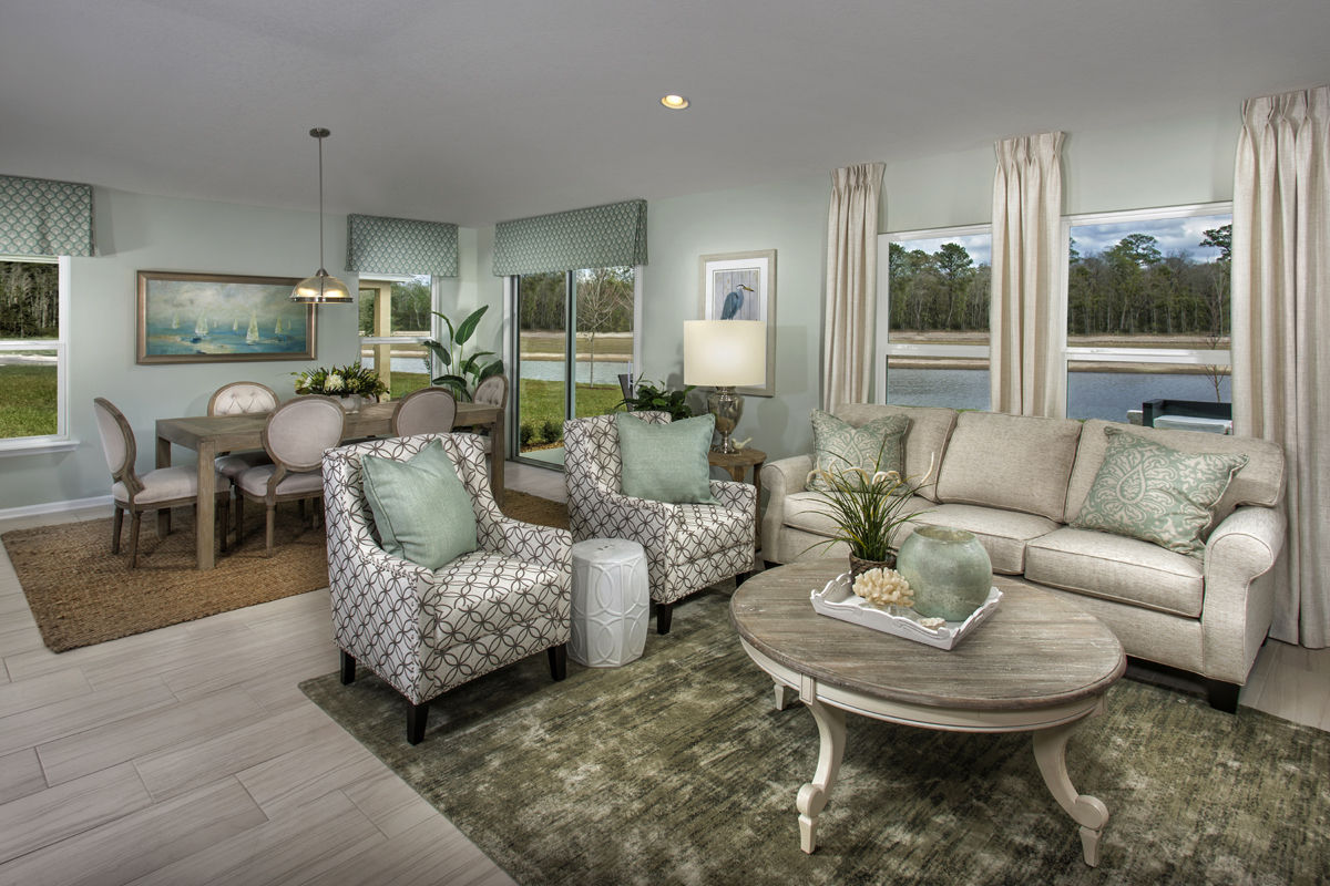 New Homes in Jacksonville, FL - Bartram Creek - Executive Series The Stockbridge Great Room