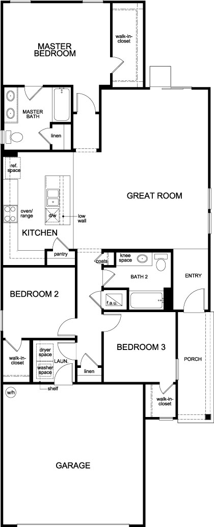 New Homes in Jacksonville, FL - Plan 1501, First Floor