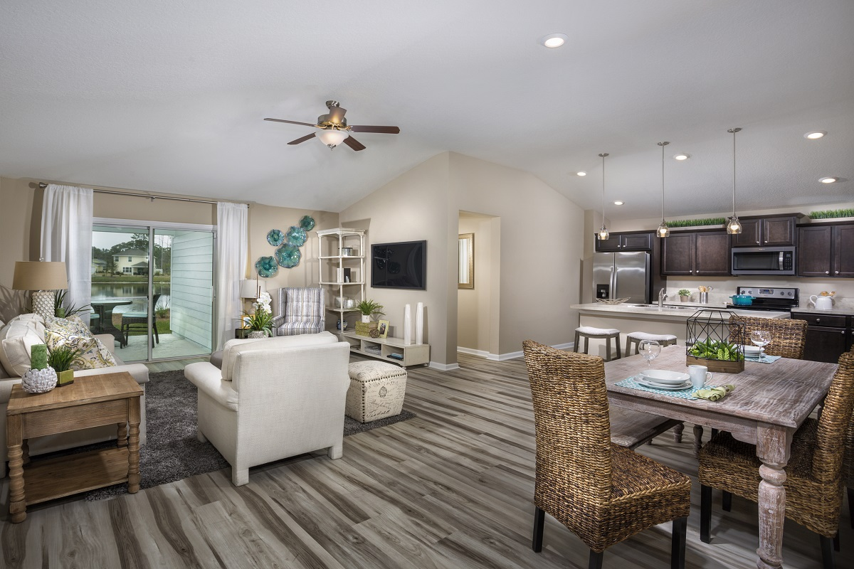 New Homes in St. Augustine, FL - Castine Cove The Darby Great Room