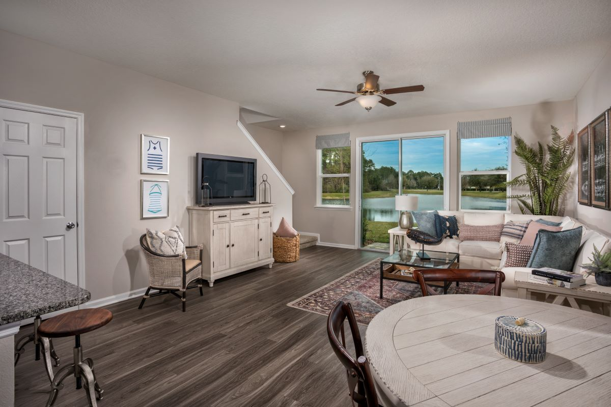 New Homes in Jacksonville, FL - Flagler Cove The Emery Greatroom