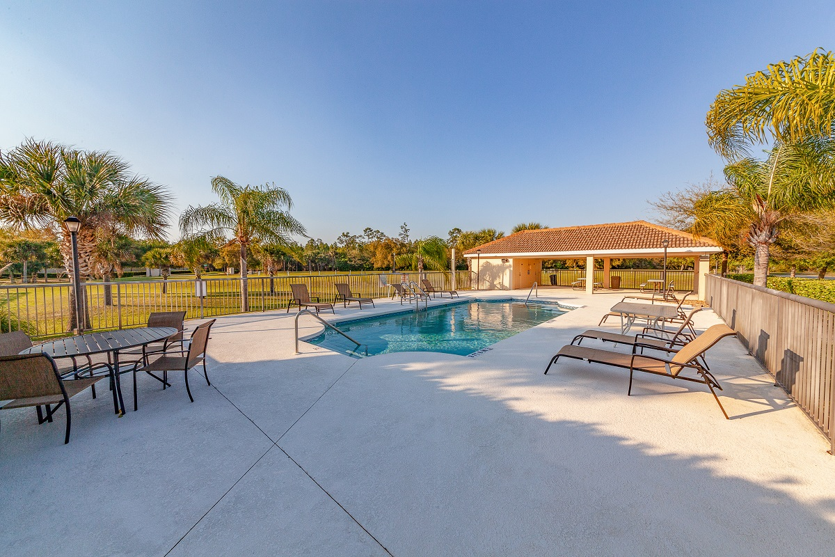 Community pool at a KB Home community in Ormond Beach, FL