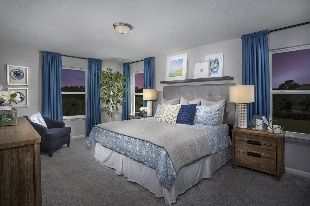 New Homes in Ormond Beach, FL - Gardens at Addison Oaks The Camara Master Bedroom