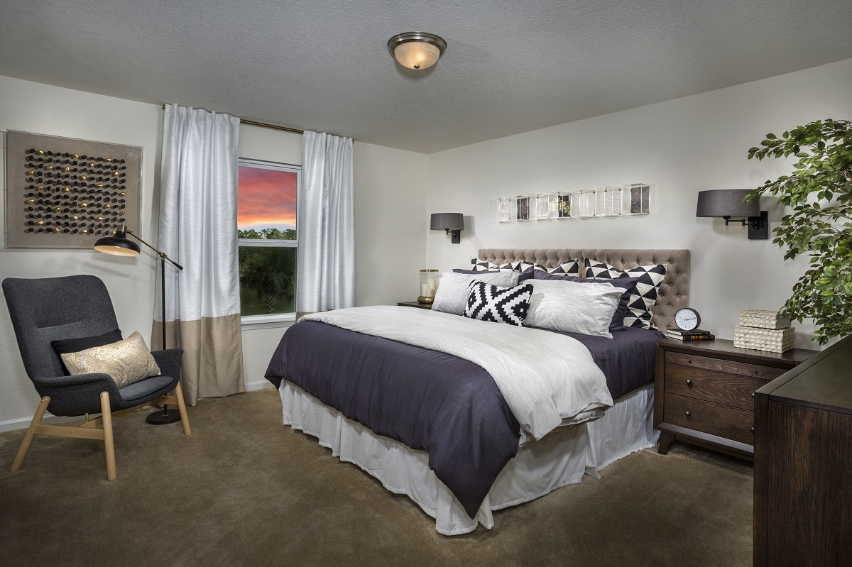 New Homes in Ormond Beach, FL - Gardens at Addison Oaks The Orchid Master Bedroom