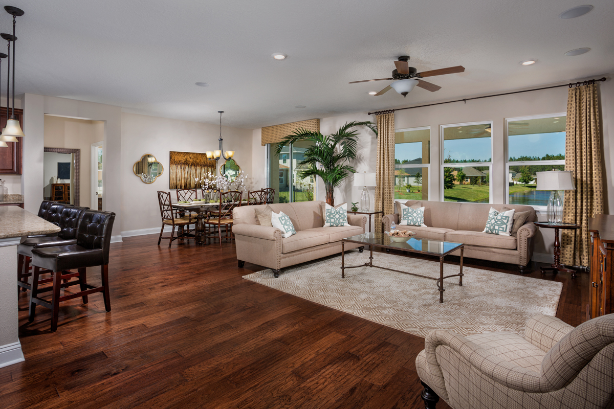 KB model home Great Room in St. Johns County, FL