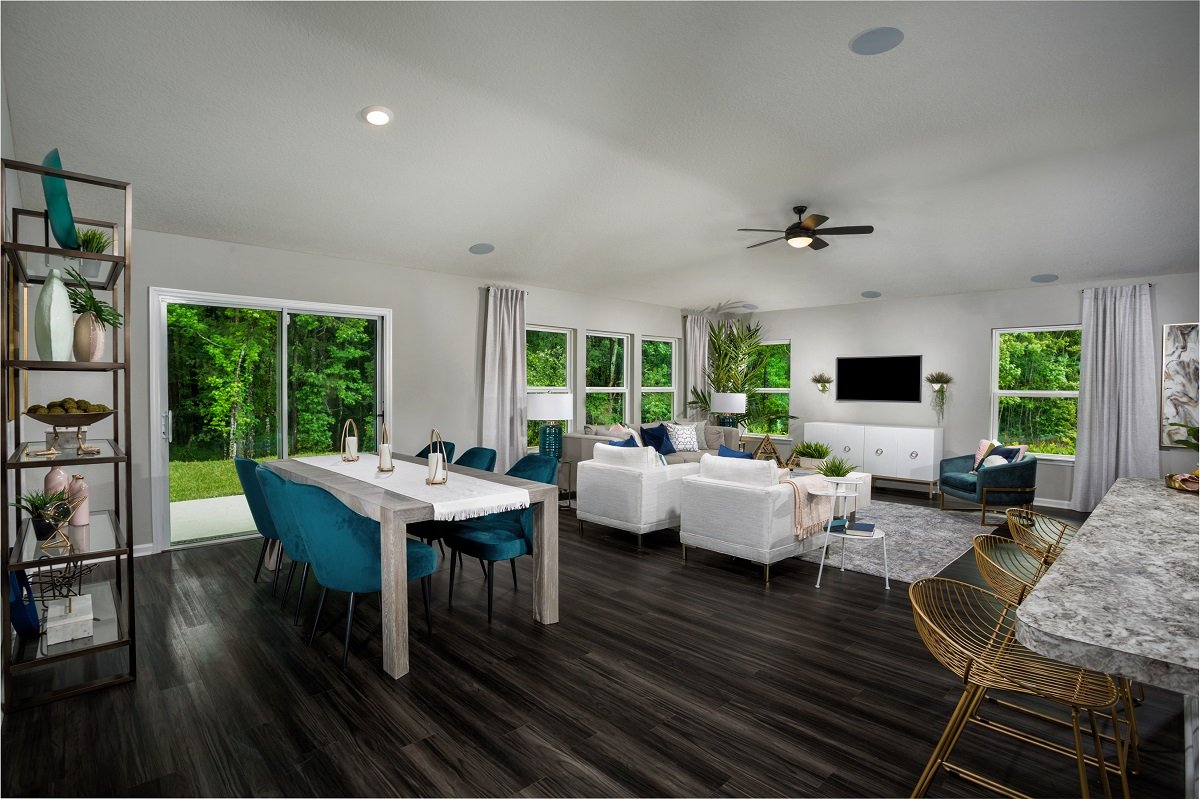 New Homes in Jacksonville, FL - Greene Meadows The Dalton Great Room