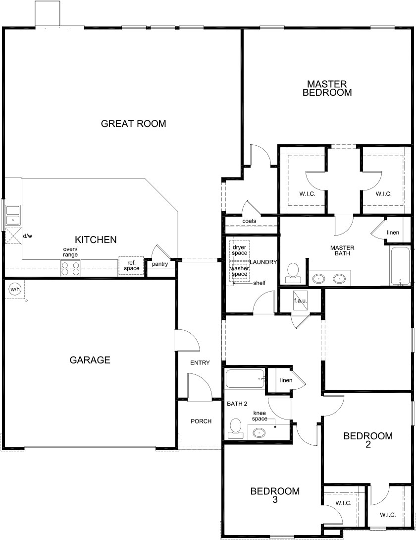 New Homes in Jacksonville, FL - Plan 2336, First Floor