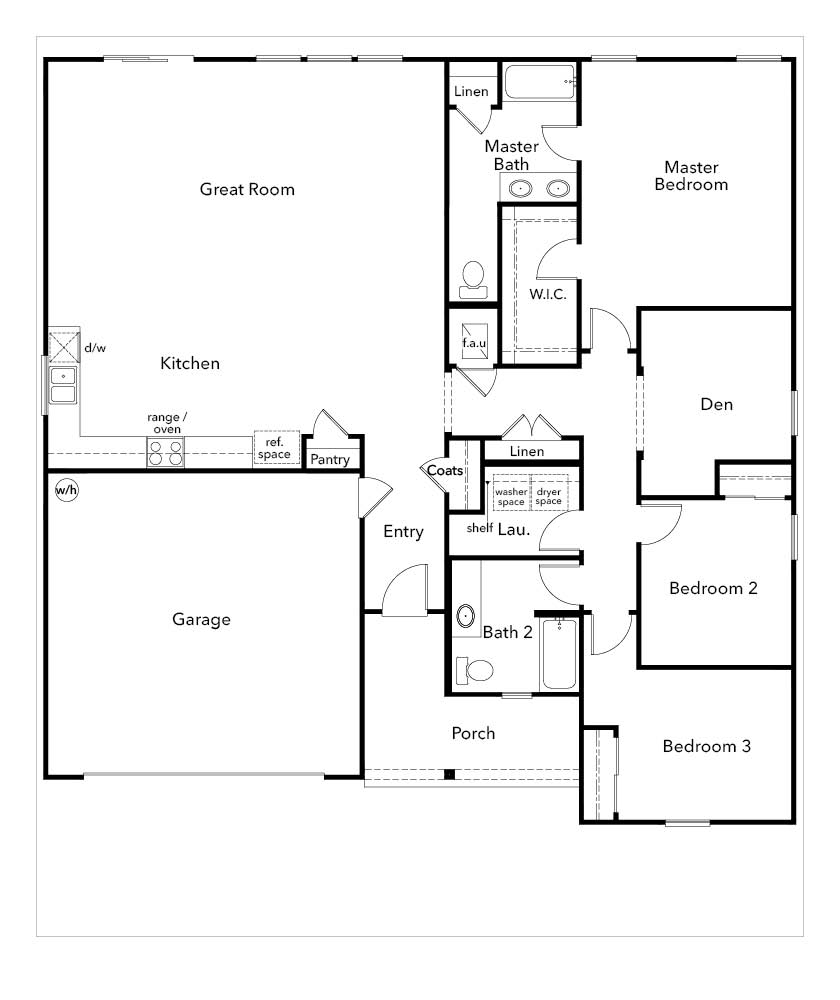 New Homes in Jacksonville, FL - Plan 1903, First Floor