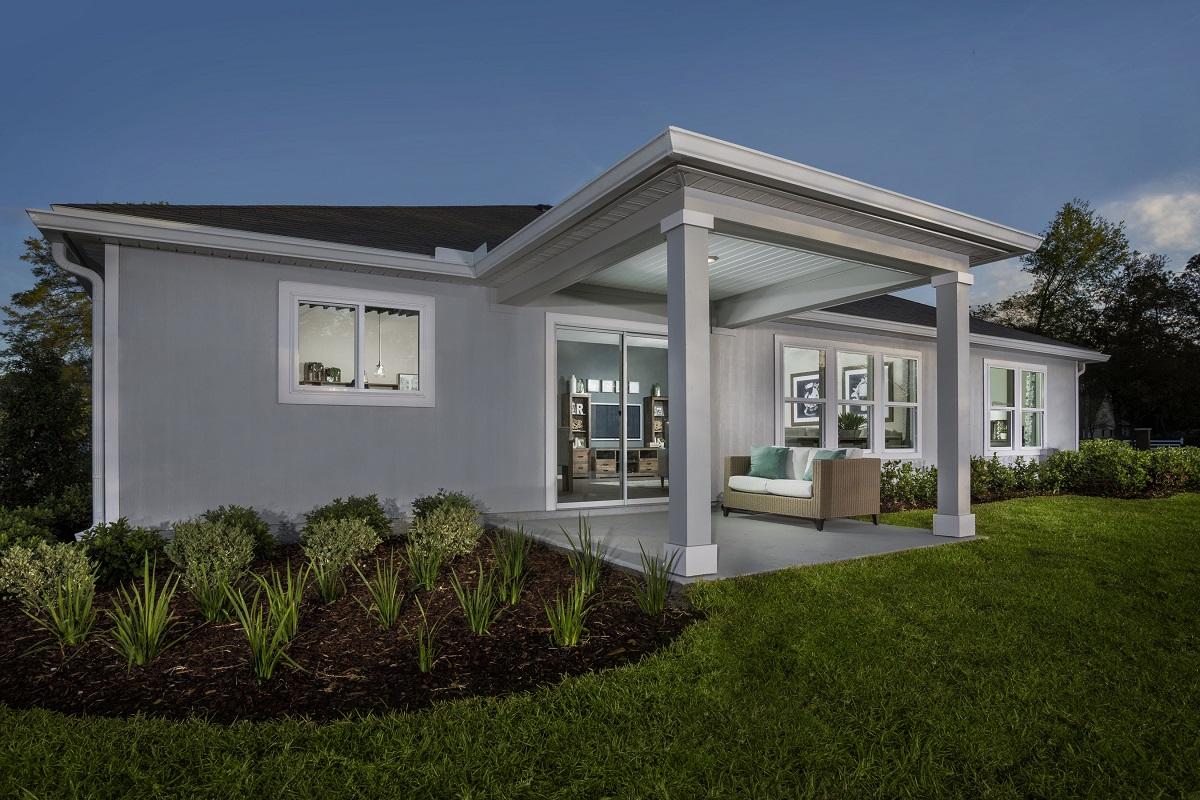 New Homes in Jacksonville, FL - Logan Pointe The Covington Patio