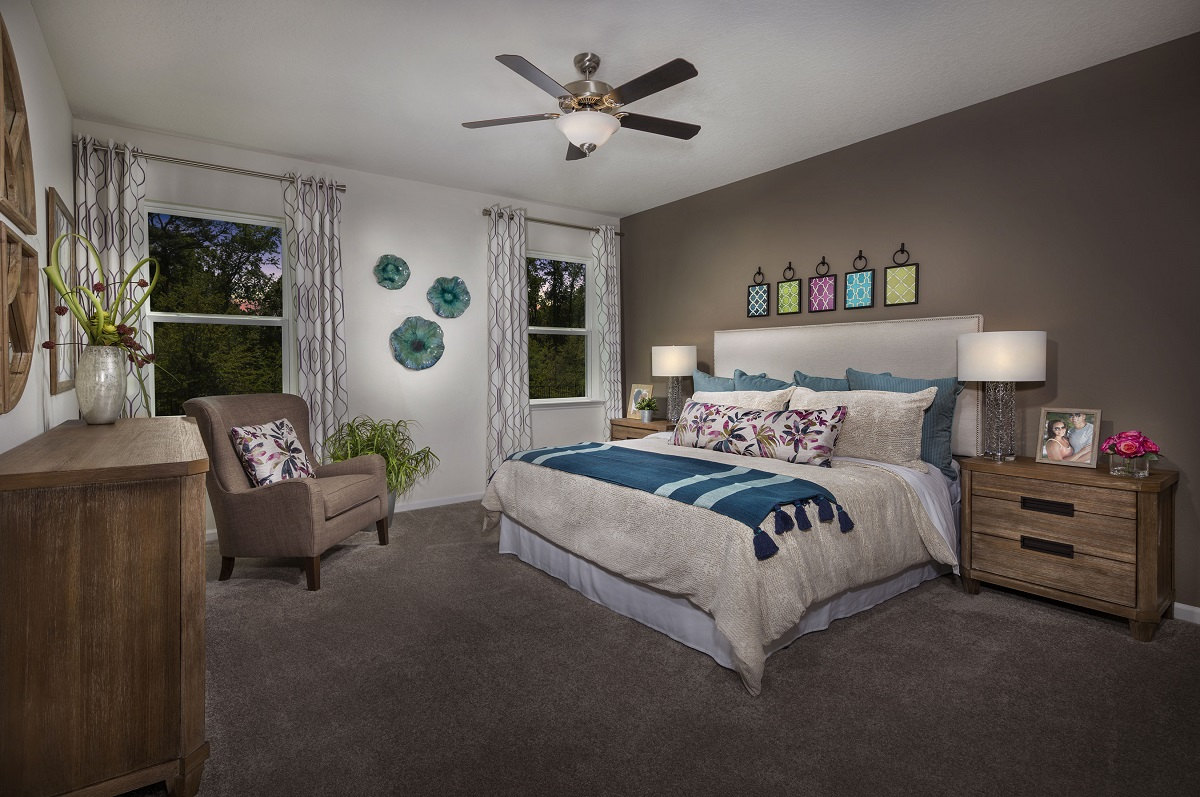 New Homes in Jacksonville, FL - Logan Pointe The Stewart Master Bedroom