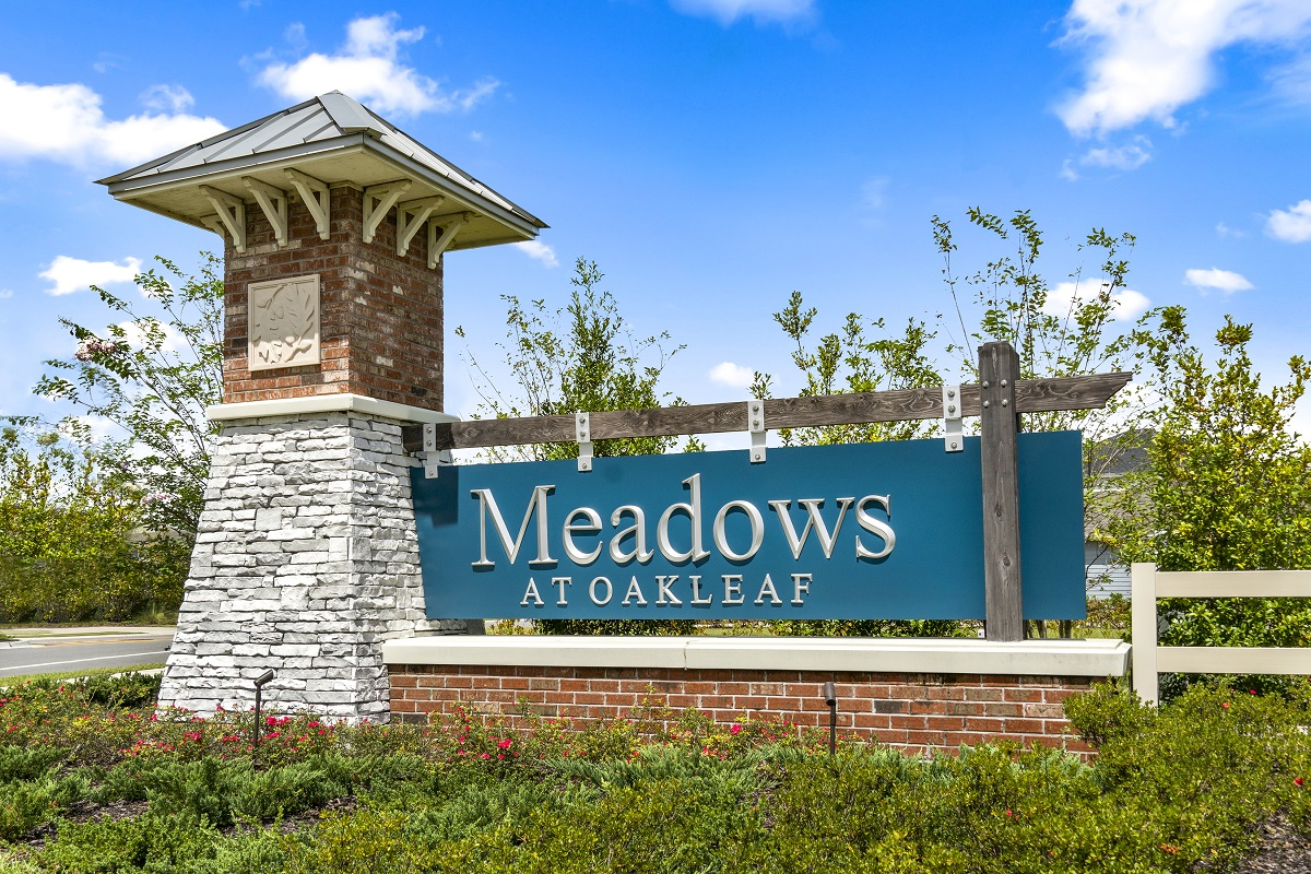 New Homes in Jacksonville, FL - Meadows at Oakleaf Community Entrance