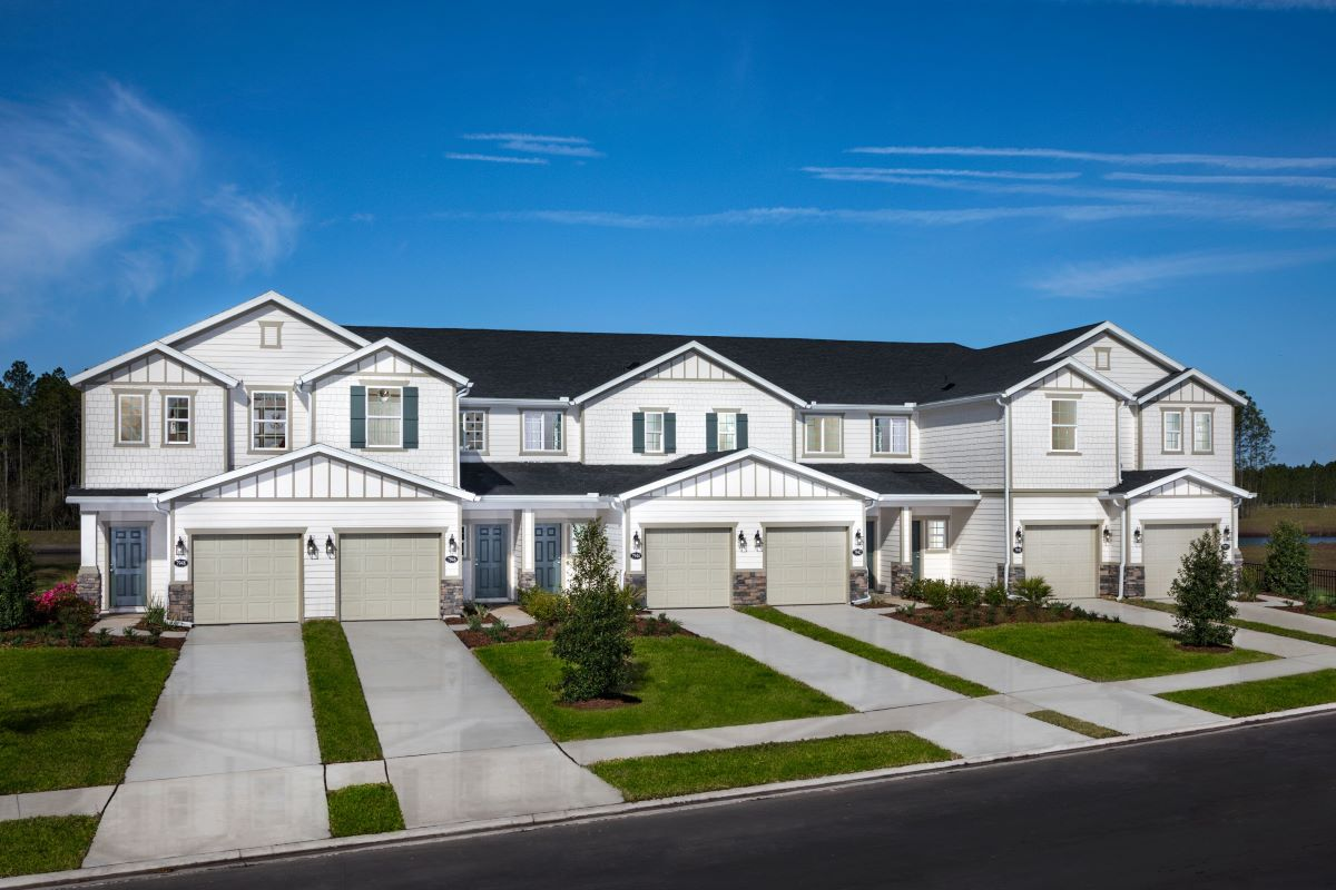 New Homes in Jacksonville, FL - Meadows at Oakleaf Townhomes 6-Plex