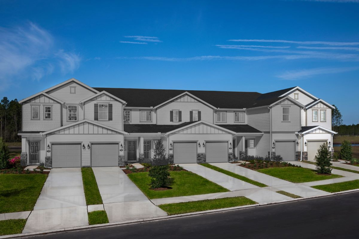 New Homes in Jacksonville, FL - Meadows at Oakleaf Townhomes The Griffith