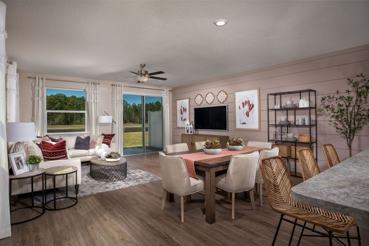 New Homes in Jacksonville, FL - Meadows at Oakleaf Townhomes The Griffith Great Room