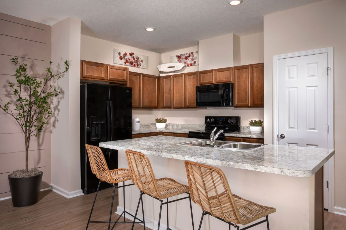 New Homes in Jacksonville, FL - Meadows at Oakleaf Townhomes The Griffith Kitchen