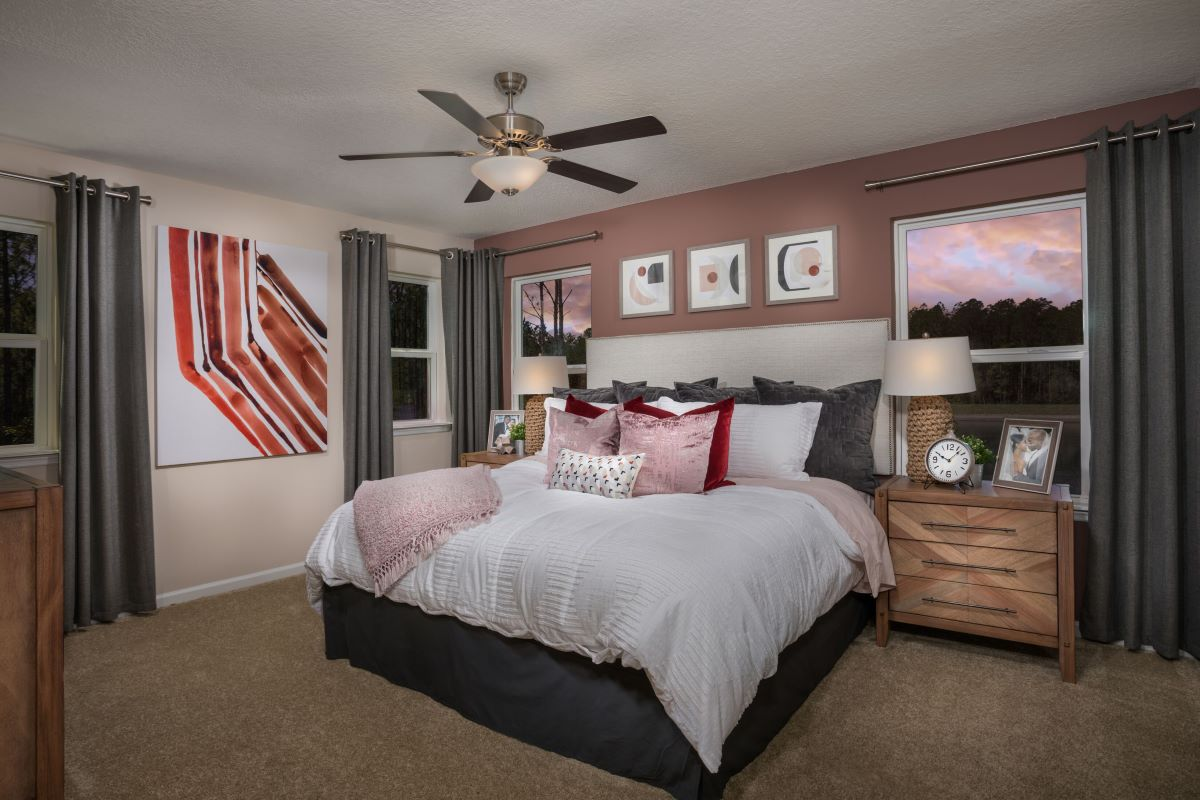 New Homes in Jacksonville, FL - Meadows at Oakleaf Townhomes The Griffith Master Bedroom