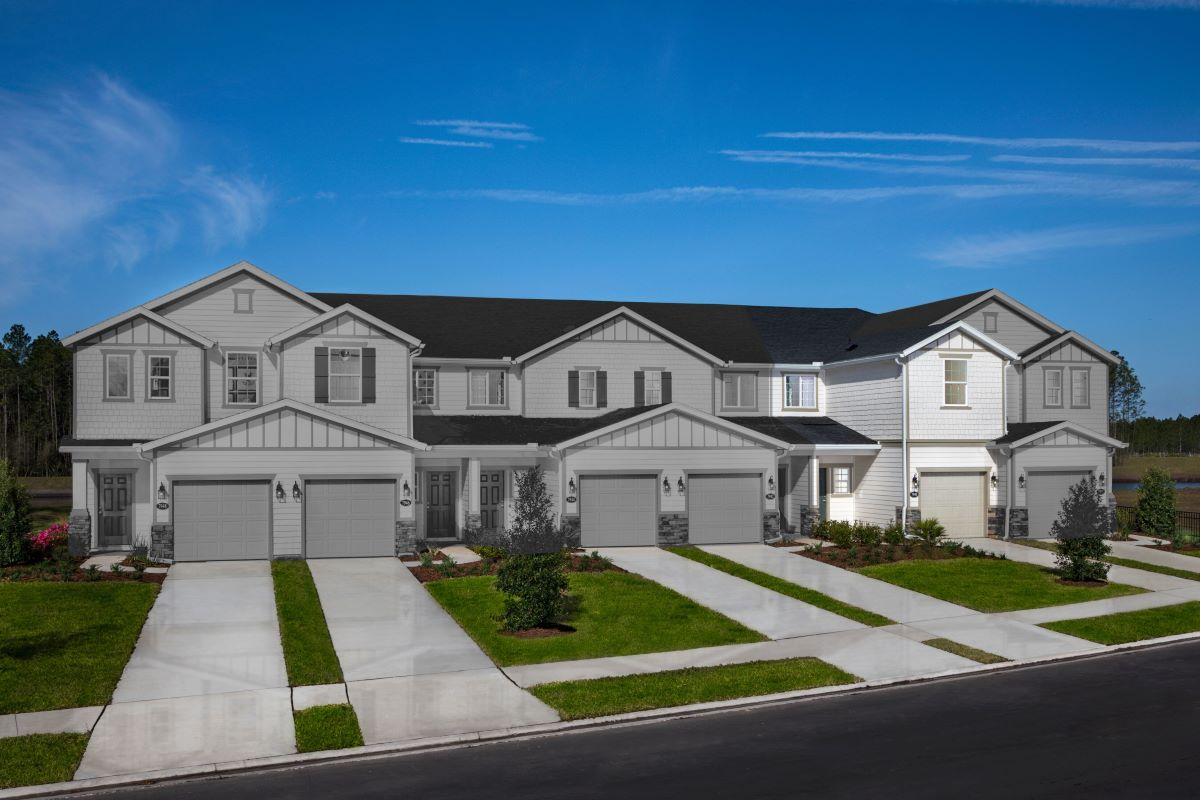 New Homes in Jacksonville, FL - Meadows at Oakleaf Townhomes The Hawkins
