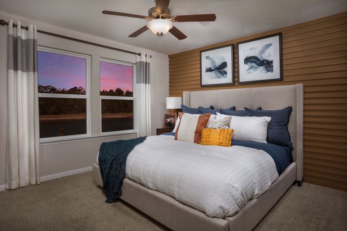 New Homes in Jacksonville, FL - Meadows at Oakleaf Townhomes The Hawkins Master Bedroom