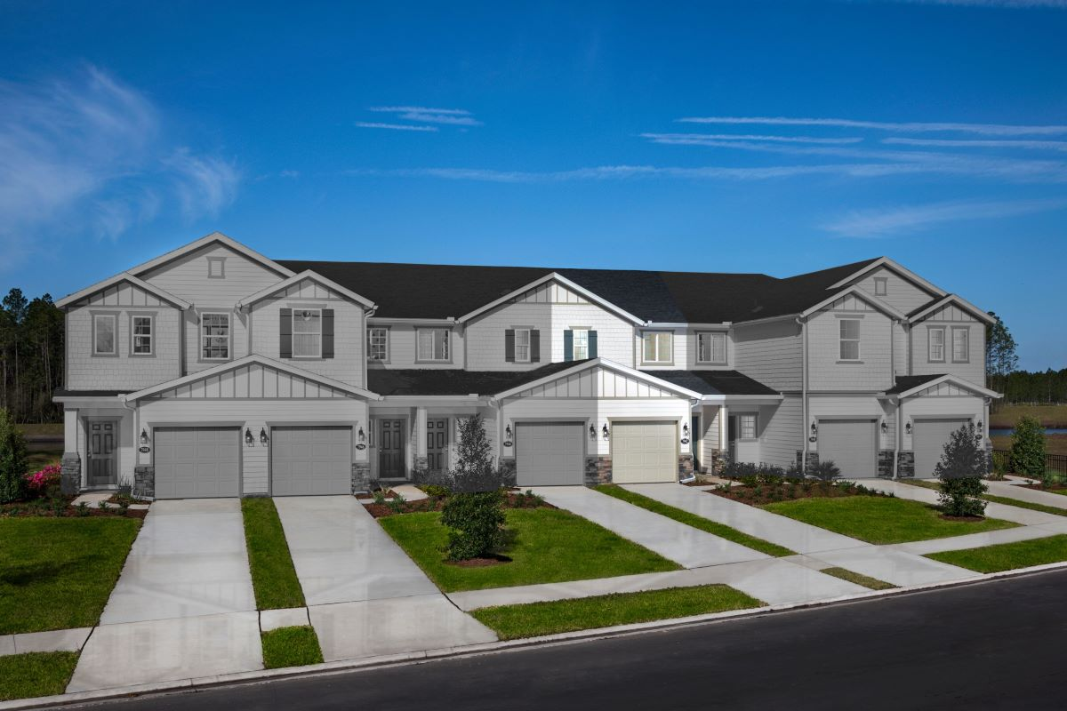 New Homes in Jacksonville, FL - Meadows at Oakleaf Townhomes The Watson