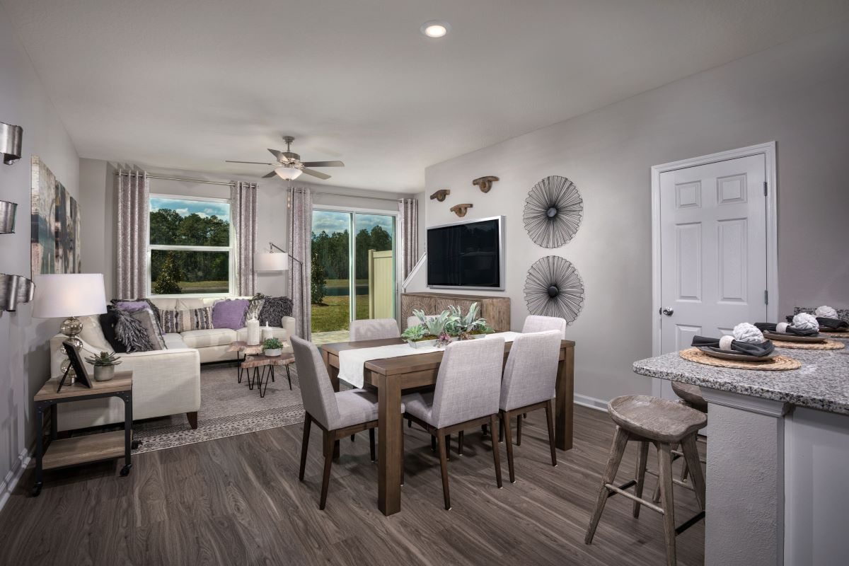 New Homes in Jacksonville, FL - Meadows at Oakleaf Townhomes The Watson Great Room