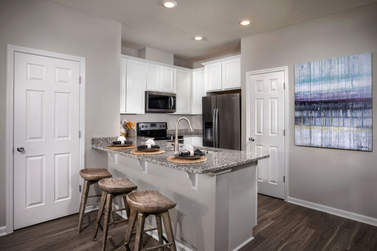 New Homes in Jacksonville, FL - Meadows at Oakleaf Townhomes The Watson Kitchen