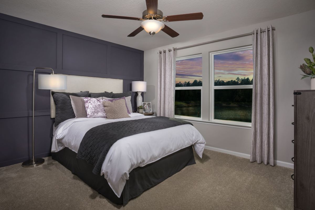 New Homes in Jacksonville, FL - Meadows at Oakleaf Townhomes The Watson Master Bedroom
