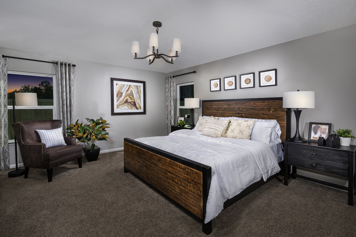 New Homes in Jacksonville, FL - Palmetto Bluff Plan 2003 Master Bedroom as modeled at Magnolia Grove