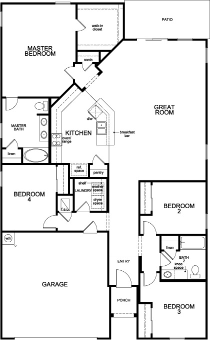 New Homes in Jacksonville, FL - Plan 2003 Modeled, First Floor
