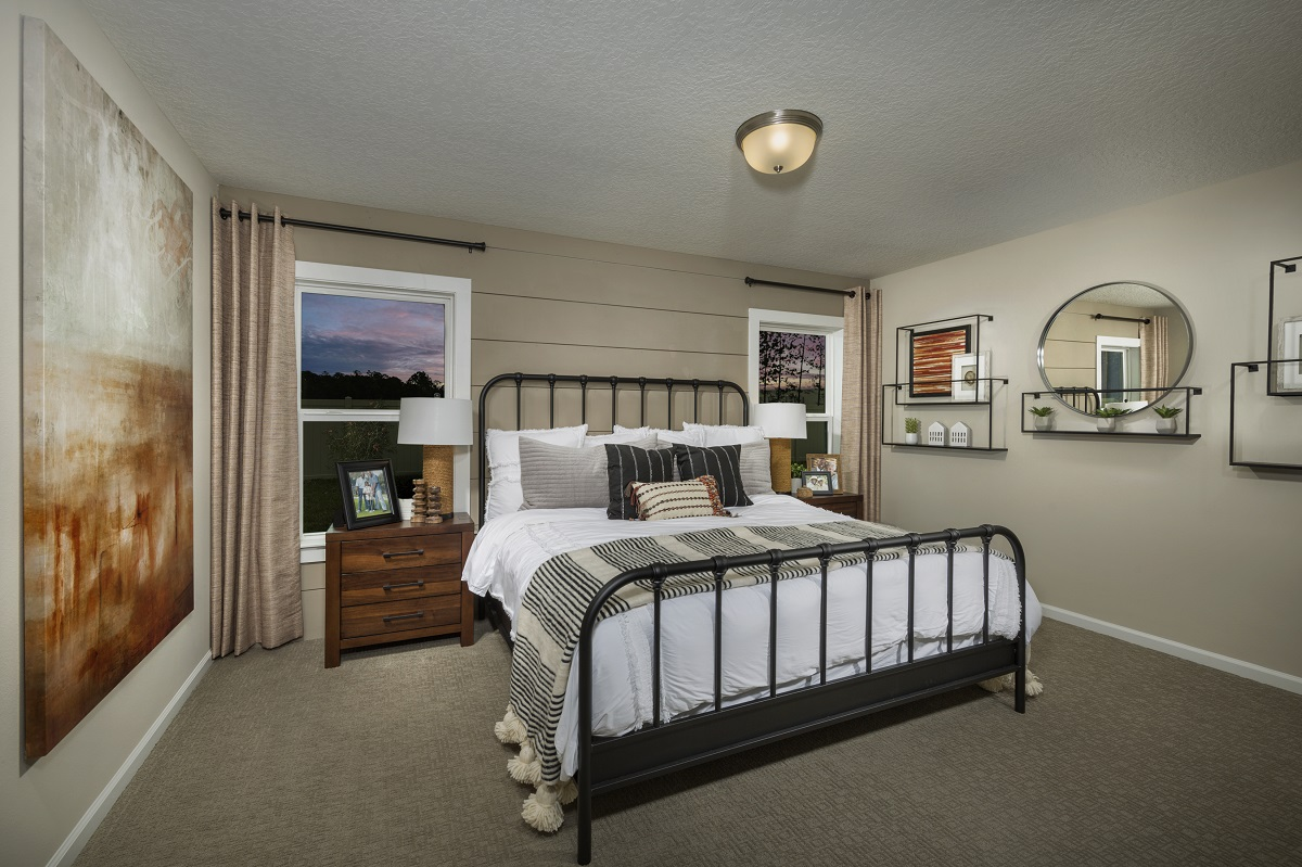 New Homes in Jacksonville, FL - Meadows at Oakleaf The Darby Master Bedroom