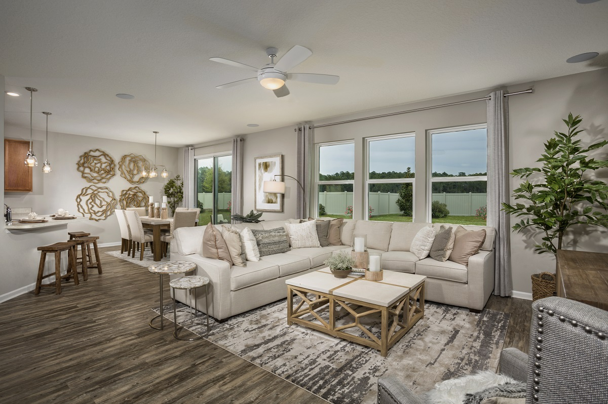 New Homes in Jacksonville, FL - Meadows at Oakleaf The Savannh Greatroom