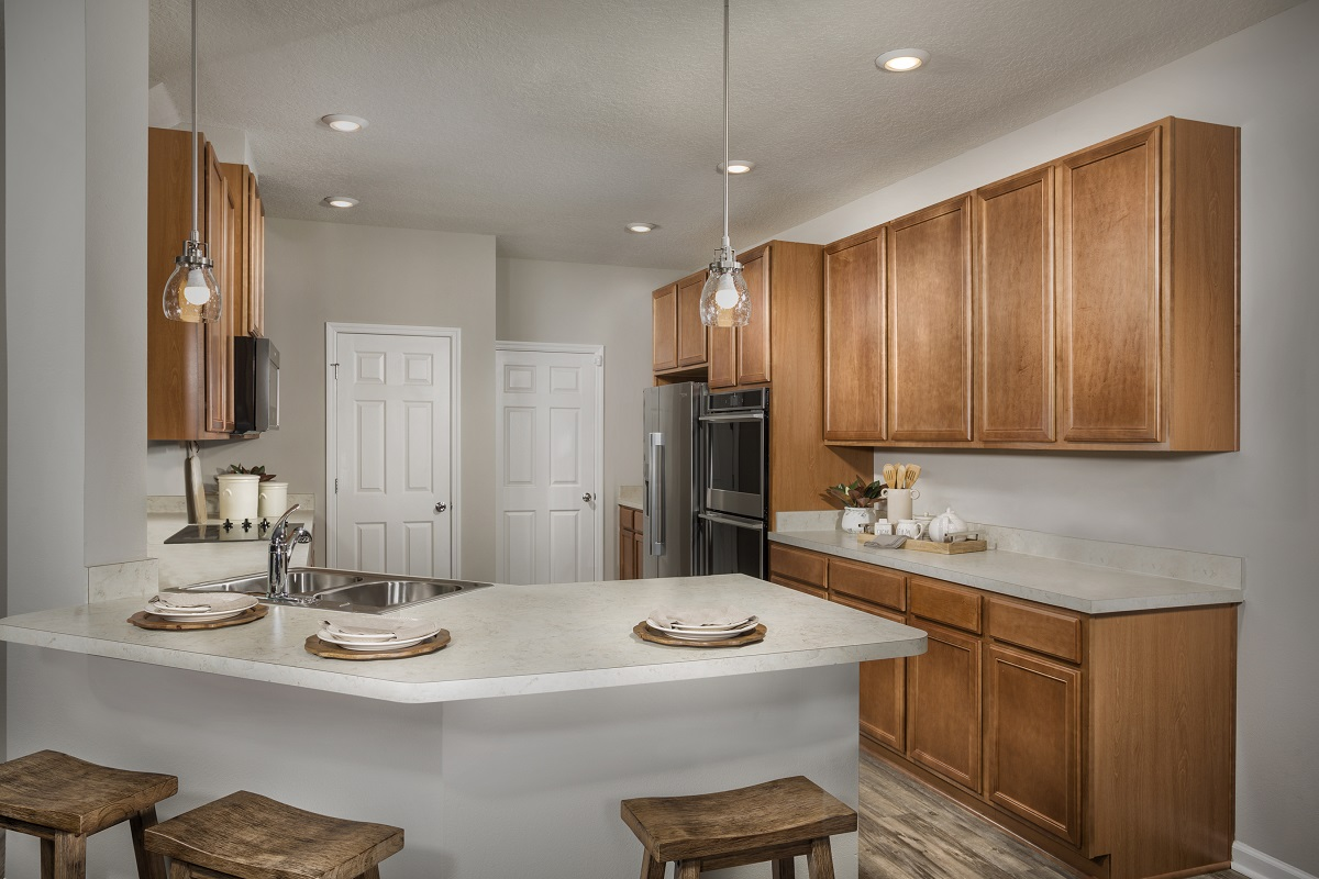 New Homes in Jacksonville, FL - Meadows at Oakleaf The Savannah Kitchen