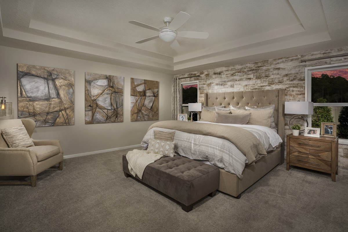 New Homes in Jacksonville, FL - Meadows at Oakleaf The Savannah Master Bedroom