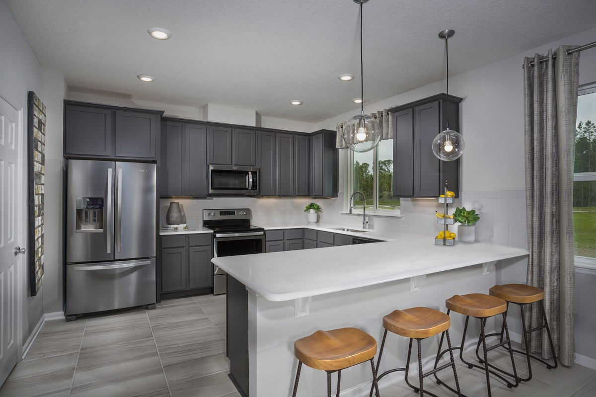 New Homes in Jacksonville, FL - Meadows at Oakleaf The Westin Kitchen