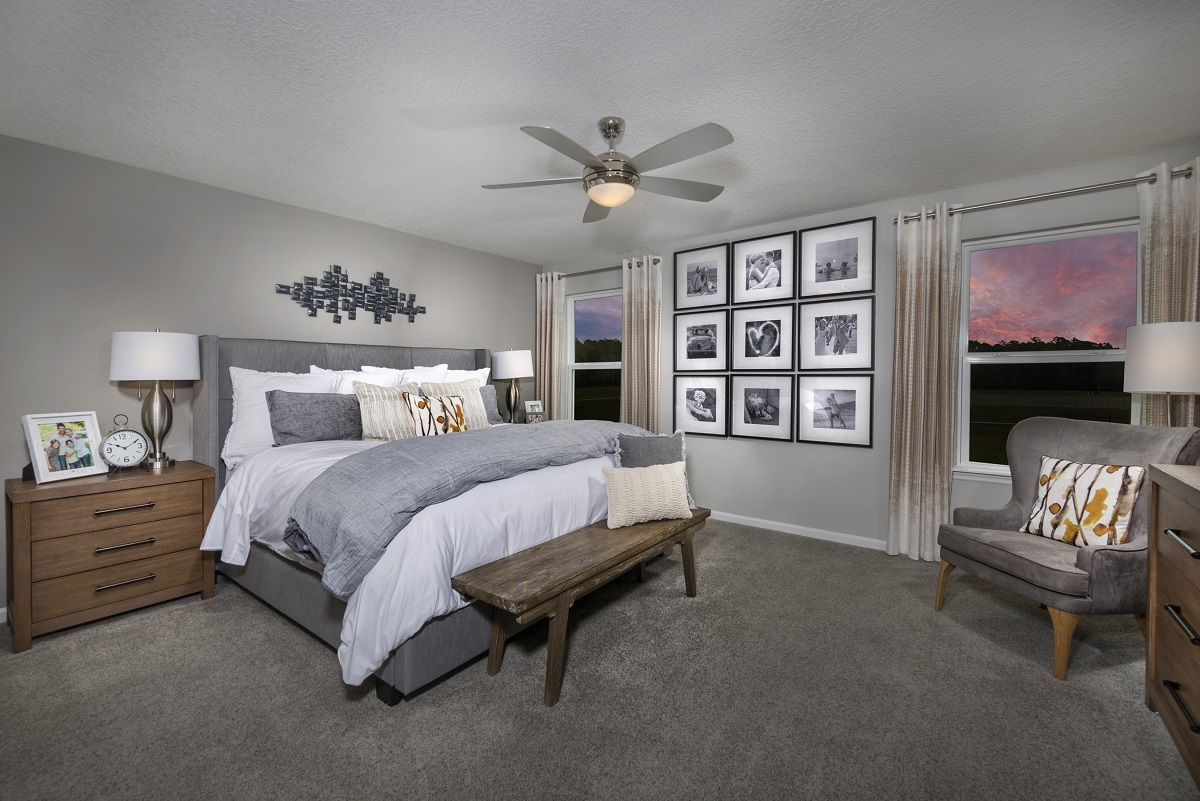 New Homes in Jacksonville, FL - Meadows at Oakleaf The Westin Master Bedroom