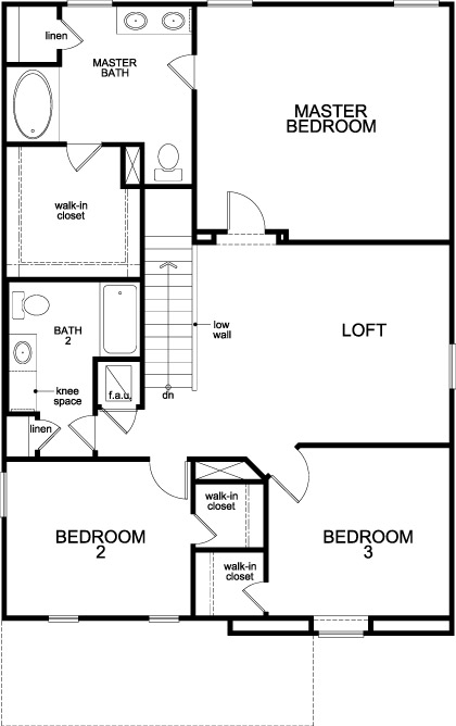 New Homes in Jacksonville, FL - The Fulton, Second Floor