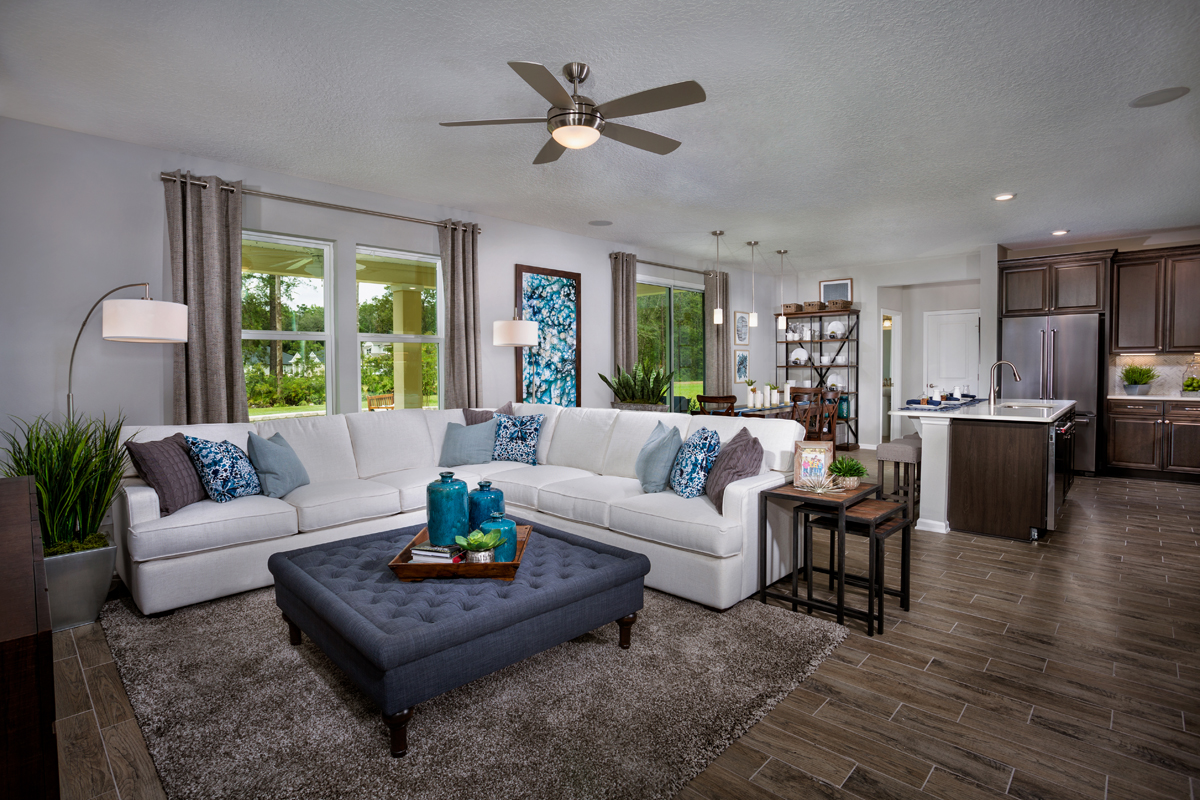 New Homes in St. Johns County, FL - Mill Creek Plantation The Palm Great Room