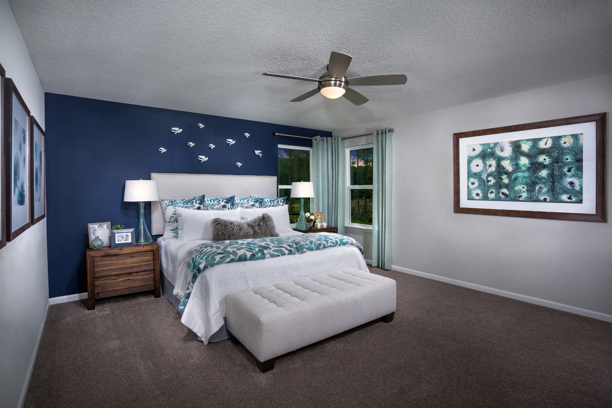 New Homes in St. Johns County, FL - Mill Creek Plantation The Palm Owner's Suite