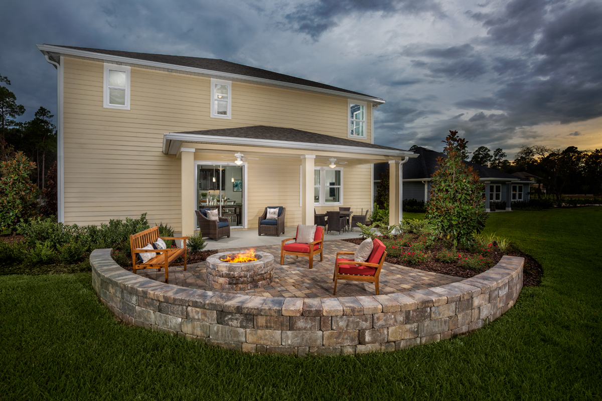 New Homes in St. Johns, FL - Mill Creek Plantation The Palm Patio