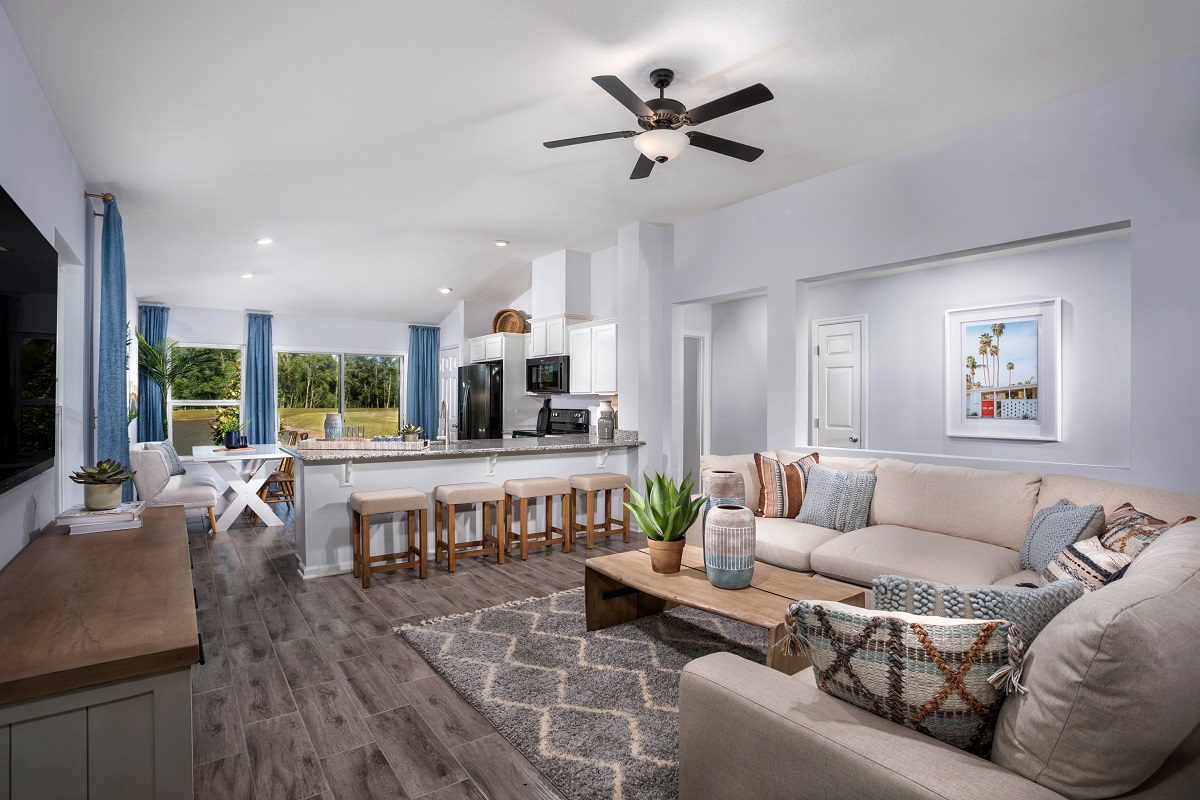 New Homes in Jacksonville, FL - Oakhurst Park Plan 1342 Great Room