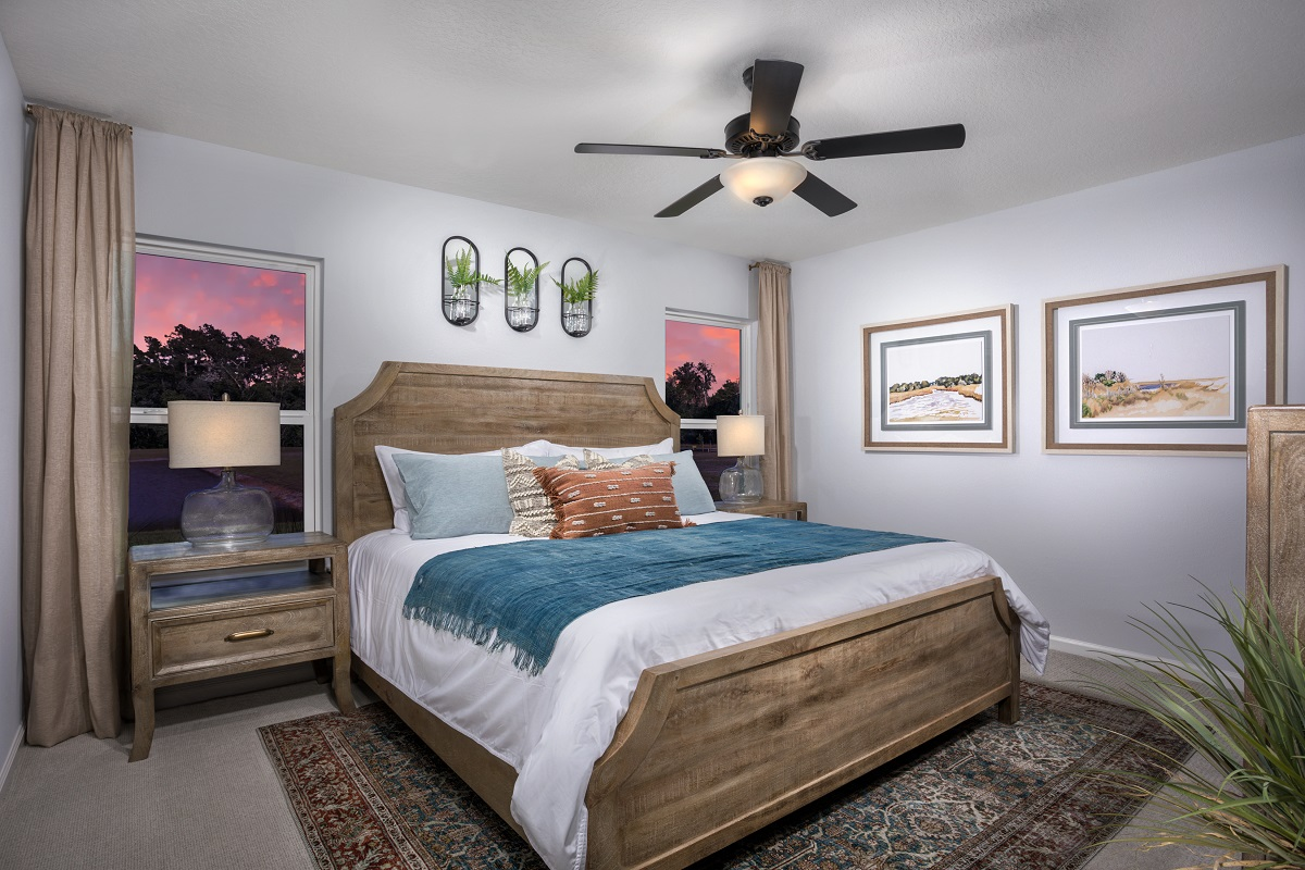 New Homes in Jacksonville, FL - Oakhurst Park Plan 1342 Master Bedroom